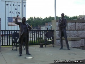 Lincoln Douglas Square in Alton Illinois