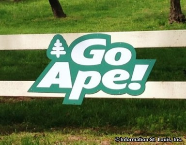 Go Ape Entrance sign