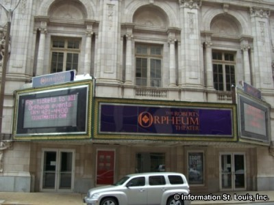Roberts Orpheum Theater in downtown St Louis