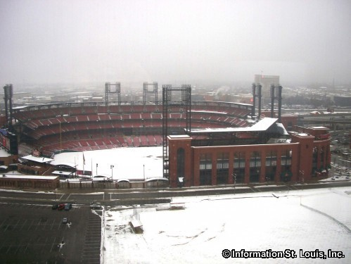 Busch Stadium, a Winter