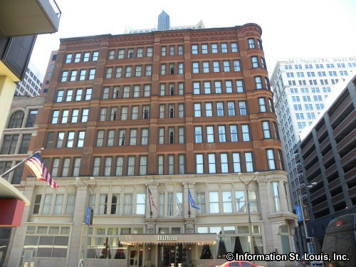 Hilton Hotel, in the historic Merchants-Laclede Building, built 1889