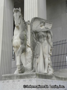 """Loyalty"" sculpture by Walker Hancock, 1938"